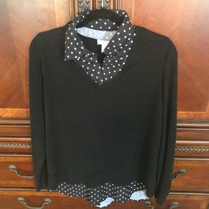 Black and polka dot sweater